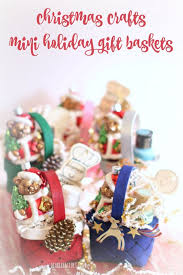 crafts mini gift basket ornaments diy