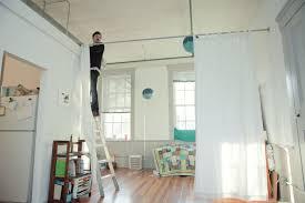 Creative Curtain Hanging Ideas Sumptuous Design Ideas Curtain Room Divider Simple Decoration Diy