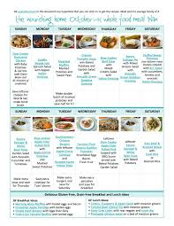 October Dinner Ideas Bi Weekly Whole Food Meal Plan For October 1 14 U2014 The Better Mom