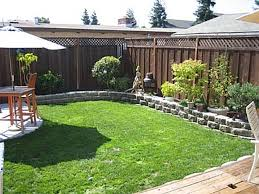 Simple Garden Landscaping Ideas Inspiration To Do The Concrete Further Focus The Sitting Area