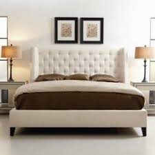 Modern Tufted Headboard by Winged Upholstered Bed Foter
