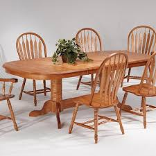 Kitchen Pedestal Table Amesbury Chair Farmhouse And Traditional Windsor Double Pedestal
