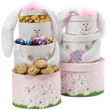 easter gift baskets for adults somebunny special easter bunny gift tower pink