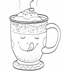 chocolate coloring page throughout chocolate mug coloring