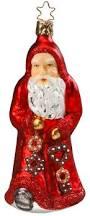 snowcone snowman christmas ornament inge glas of germany