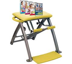 Pilates Chair Exercises Pilates Pro Chair With 4 Dvds By Life U0027s A Beach Page 1 U2014 Qvc Com
