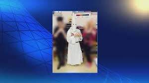 kkk costume halloween massachusetts student goes to wearing kkk costume