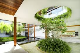 garden home interiors outdoor residence strategy with interior courtyard and rooftop