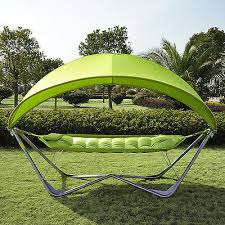outsunny outdoor single camping hammock patio bed portable swing w
