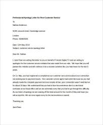 doc 648865 sample of apology letter to customer u2013 8 best sample