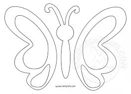 simple butterfly template easter template