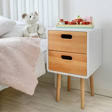 table for children s room children s solid wood bedside table with white finish by snug