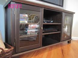 easy diy u2013 spray painted media cabinet trellis design house to
