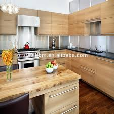 Wood Veneer For Kitchen Cabinets by Wood Veneer With Visible Handle Kitchen Cabinet Buy Handle
