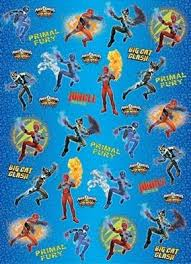 power rangers wrapping paper power rangers jungle fury wrapping paper co uk toys