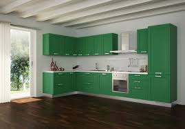 refreshing modern kitchen colors ideas with green cabinets