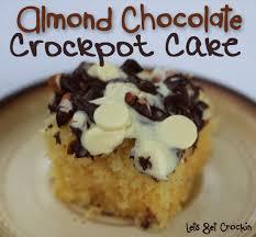 almond chocolate crockpot cake wanna bite