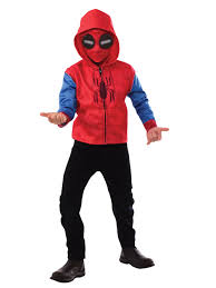 spider man homecoming kids spider man zip up hooded costume top