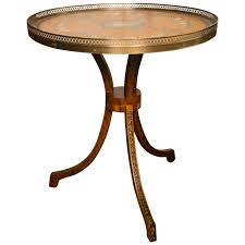 hand painted round side table for sale at 1stdibs