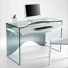 Black Home Office Desks by Computer Table Glass Computer Desk With Drawers Europa Black