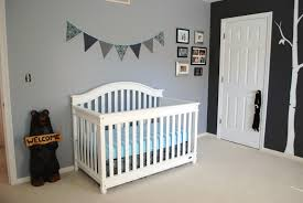 fair picture of light grey and yellow black and white baby nursery