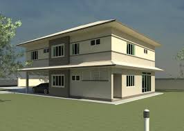 modern double storey house plan house and home design