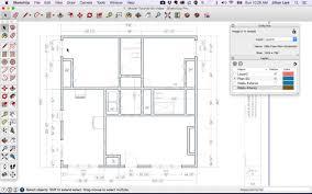 sketchup layout line color sketchup floor plan tutorial doors and windows