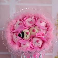 pure handmade cartoon bouquet 9 pig stuffed toy bouquet glamorous