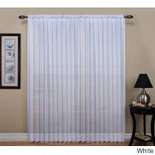 wide flat curtain rods