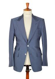 ford grayish blue suit size 48 38r u s 100 silk fit a