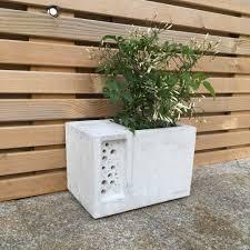 Concrete Planter Green U0026 Blue Beepot Concrete Planter Bee Hotel Black By Design