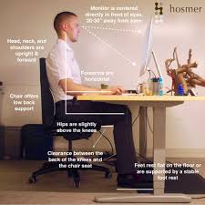 hosmer chiropractic proper ergonomic desk workstation setup