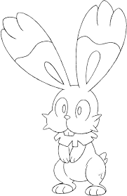 coloring pages pokemon bunnelby drawings pokemon