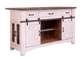 international furniture direct pueblo kitchen island with sliding
