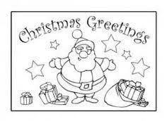 free santa sleigh colouring kids activity sheets