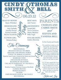 wedding reception program sle creative wedding program design ideas part 1 crazyforus