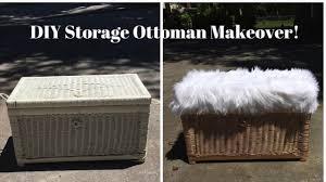diy storage ottoman makeover youtube