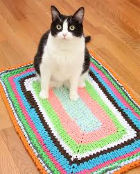 Free Crochet Patterns For Rugs Rug Knitting Patterns In The Loop Knitting