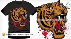 apparel vector t shirt design with tiger vector t shirt designs