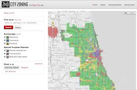 Green Line Chicago Map by Open City Provides Detailed Map View Of Chicago Zoning Informed