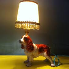 vintage dog table lamp ethical market