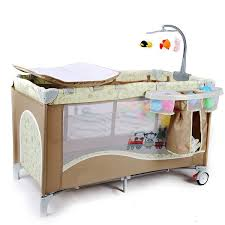 Changing Table Safety High Quality Multifunctional Infant Baby Cribs With Trolley