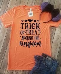 disney halloween tee shirts trick or treat around the kingdom disney halloween shirt