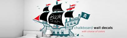 kids wall decals wallpapers and decor accessories by the brand e glue pirate boat chalkboard wall decals
