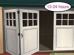 how to paint a garage door 12 steps with pictures wikihow
