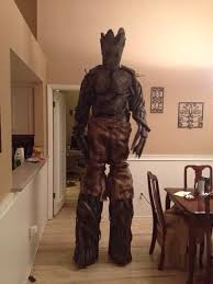groot costume my co workers groot costume yes he is on stilts marvel