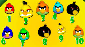 angry birds song kids children learn count number