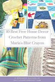 free crochet patterns for home decor 10 free home decor crochet patterns from maria s blue crayon salty