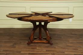 Mission Dining Room Set by Solid Walnut Round Arts And Craft Expandable Dining Table