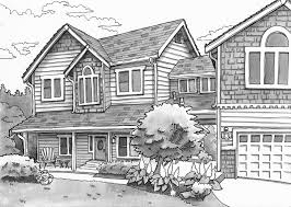 House Drawings by Urban Sketchers Seattle Sharon U0027s House In Everett